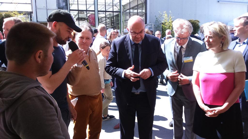 Discussion avec le ministre de l'agriculture Stéphane TRAVERT