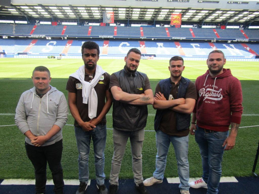 Soutenance orale au stade Michel d'Ornano de Caen