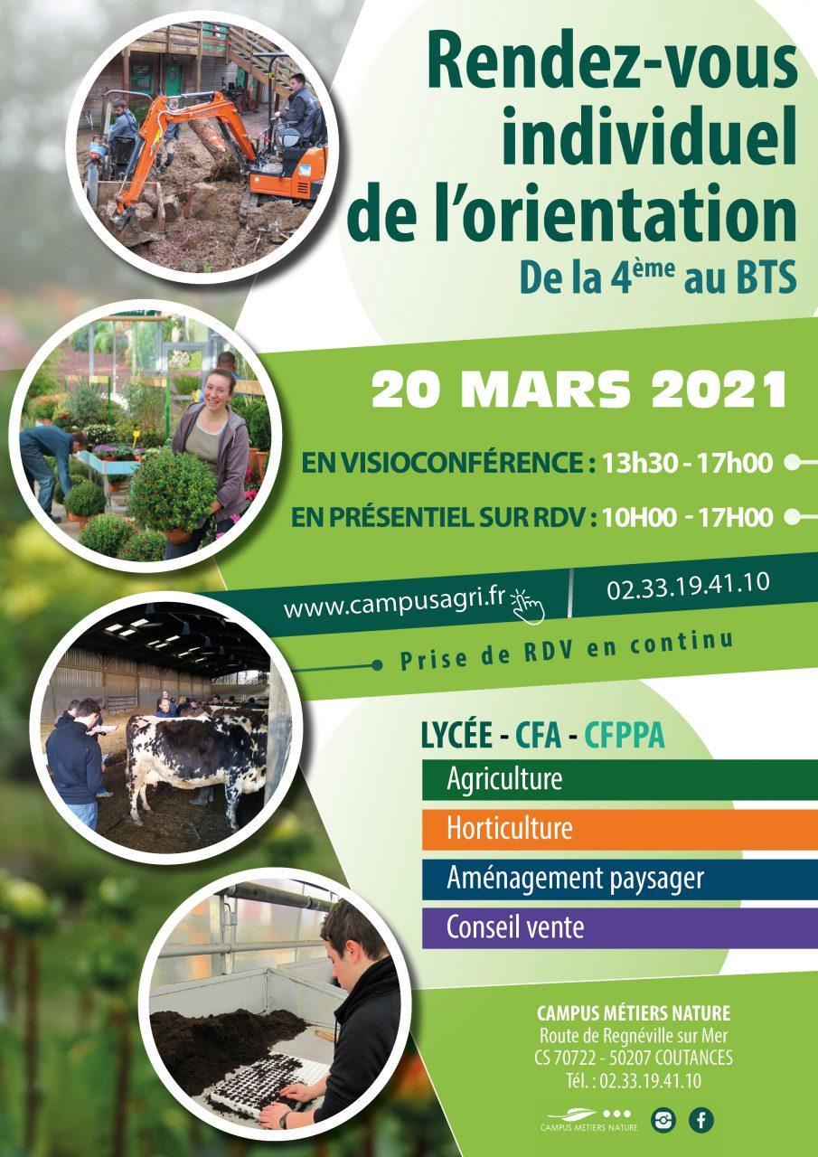RVD individuel de l'orientation – Samedi 20 mars 2021
