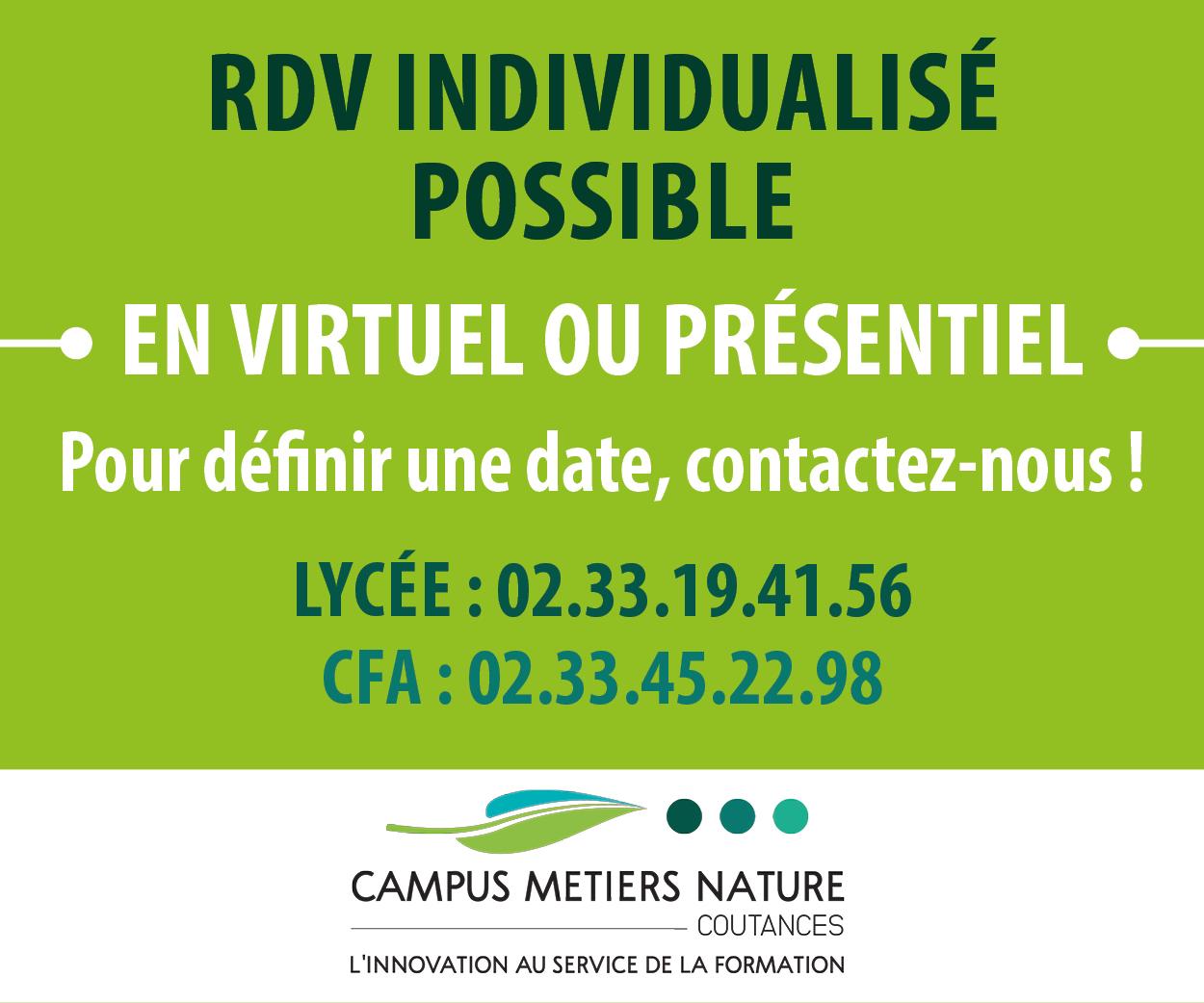 RDV individualisé possible en virtuel ou présentiel