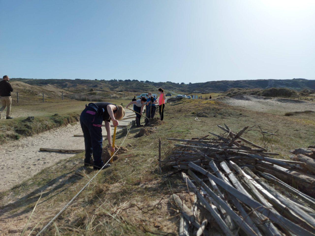 Chantier-école dans les dunes avec le SYMEL